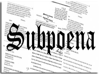 Service of Subpoena in Fort Pierce, Port St. Lucie and Stuart Florida